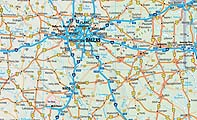 Borch Maps USA Interstate Map - Map of usa with interstates